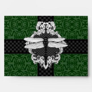 Dark Hunter Forest Green A7 Dragonfly Envelopes