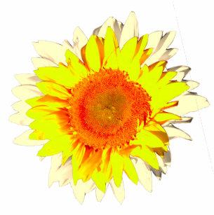 Dark Hunter Green Sunflower On Flip Flops