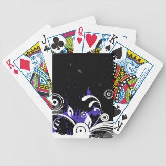 Dark Ink Splash Bicycle Playing Cards