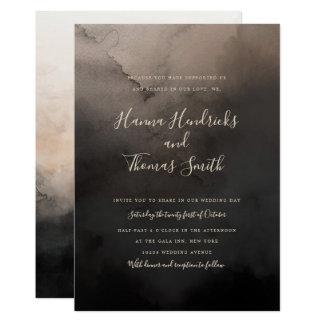 Dark Ink Wedding Invitations