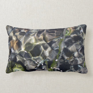Dark Intense Water Lumbar Pillow