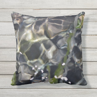 Dark Intense Water Throw Pillow