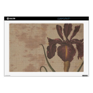 "dark iris with grungy background 17"" laptop decal"