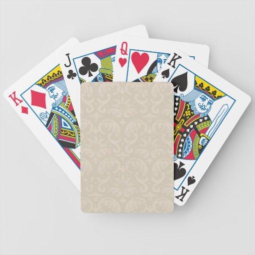 Dark Ivory Damask Playing Cards