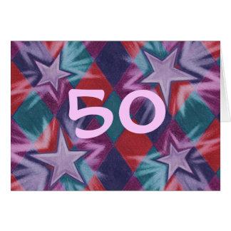 Dark Jester '50' Happy Birthday greetings card