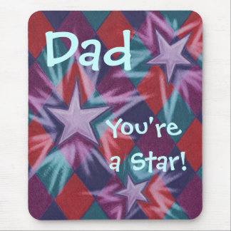 Dark Jester 'Dad You're a Star' mousepad