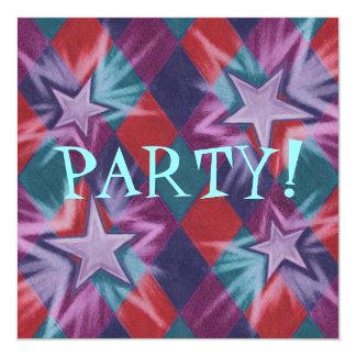"""Dark Jester party invitation 5.25"""" Square Invitation Card"""