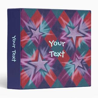 Dark Jester 'Your Text' blue binder