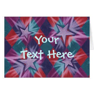 Dark Jester  'Your Text' greetings card