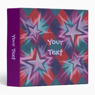 Dark Jester 'Your Text' purple binder