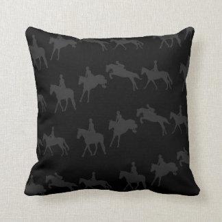 Dark Jumping Horse Sequence Throw Pillow