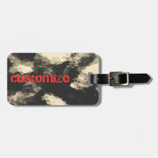 Dark Jungle Camouflage Luggage Tag
