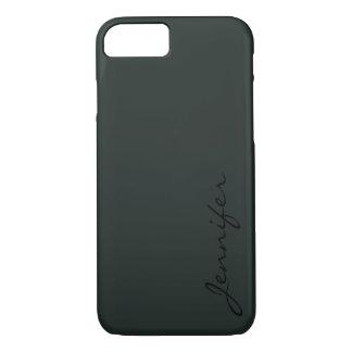 Dark jungle green color background iPhone 7 case