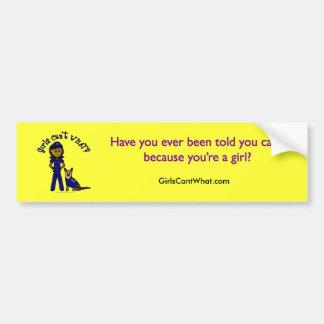 Dark K9 Police Girl Bumper Sticker