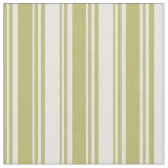 [ Thumbnail: Dark Khaki and Beige Colored Lines Fabric ]