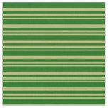 [ Thumbnail: Dark Khaki and Dark Green Colored Lines Fabric ]