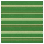 [ Thumbnail: Dark Khaki and Dark Green Stripes Fabric ]