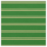 [ Thumbnail: Dark Khaki and Dark Green Stripes Pattern Fabric ]