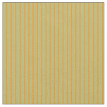 [ Thumbnail: Dark Khaki and Dark Orange Striped/Lined Pattern Fabric ]