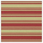 [ Thumbnail: Dark Khaki and Dark Red Colored Lines Fabric ]