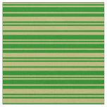 [ Thumbnail: Dark Khaki and Green Colored Stripes Fabric ]