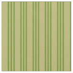 [ Thumbnail: Dark Khaki and Green Lines Fabric ]