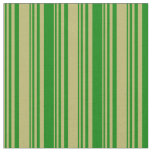 [ Thumbnail: Dark Khaki and Green Lines/Stripes Pattern Fabric ]