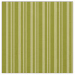 [ Thumbnail: Dark Khaki and Green Stripes Fabric ]