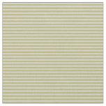 [ Thumbnail: Dark Khaki and Light Grey Colored Stripes Fabric ]