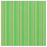 [ Thumbnail: Dark Khaki and Lime Green Colored Lines Pattern Fabric ]