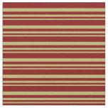 [ Thumbnail: Dark Khaki and Maroon Lines/Stripes Pattern Fabric ]