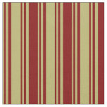 [ Thumbnail: Dark Khaki and Maroon Pattern Fabric ]