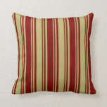 [ Thumbnail: Dark Khaki and Maroon Pattern Throw Pillow ]