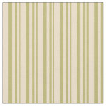 [ Thumbnail: Dark Khaki and Tan Colored Striped Pattern Fabric ]