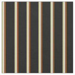 [ Thumbnail: Dark Khaki, Beige, Brown, and Black Colored Lines Fabric ]