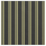 [ Thumbnail: Dark Khaki & Black Lined/Striped Pattern Fabric ]