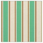[ Thumbnail: Dark Khaki, Brown, Tan, Sea Green & White Colored Fabric ]