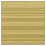[ Thumbnail: Dark Khaki & Dark Goldenrod Colored Stripes Fabric ]