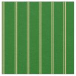 [ Thumbnail: Dark Khaki & Dark Green Lined/Striped Pattern Fabric ]