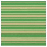 [ Thumbnail: Dark Khaki & Forest Green Stripes/Lines Pattern Fabric ]