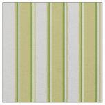 [ Thumbnail: Dark Khaki, Light Grey & Green Lined Pattern Fabric ]