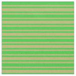 [ Thumbnail: Dark Khaki & Lime Green Pattern Fabric ]