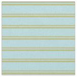 [ Thumbnail: Dark Khaki & Powder Blue Stripes Fabric ]
