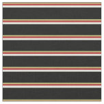 [ Thumbnail: Dark Khaki, Red, Beige, and Black Colored Pattern Fabric ]