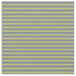 [ Thumbnail: Dark Khaki & Slate Gray Pattern of Stripes Fabric ]