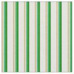 [ Thumbnail: Dark Khaki, Tan, Sea Green, Green & White Colored Fabric ]