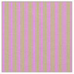 [ Thumbnail: Dark Khaki & Violet Striped/Lined Pattern Fabric ]