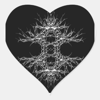 dark kind heart sticker
