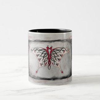 Dark Kissing Butterfly Mug