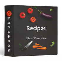 Dark Kitchen utensils recipe binder book